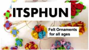 itsphun felt ornaments