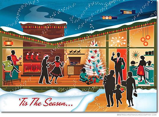 Retro-Ho-Ho Christmas Cards