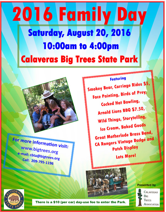 Calaveras Big Trees Annual Family Day