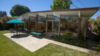 The rear of the Eichler home of Vilma and Don Buck photographed in Sunnyvale, Calif., Tuesday, Aug. 30, 2016. The couple has lived in their Eichler for 50 years. Built as high-quality affordable homes in the middle of the last century, modest, airy, glass-lined Eichler homes are now highly sought-after -- and valuable. (Patrick Tehan/Bay Area News Group)